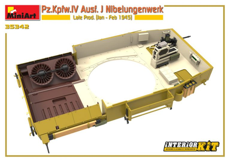 35342 Pz.Kpfw.IV Ausf. J Nibelungenwerk Late Prod. (Jan – Feb 1945) INTERIOR KIT
