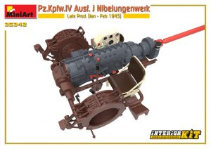3D renders 35342 Pz.Kpfw.IV Ausf. J Nibelungenwerk Late Prod. (Jan – Feb 1945) INTERIOR KIT