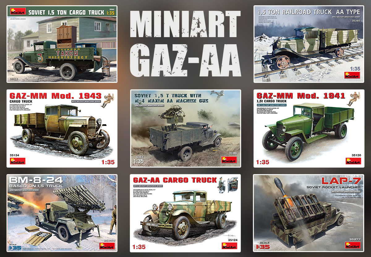 Collection of GAZ-AA Kits