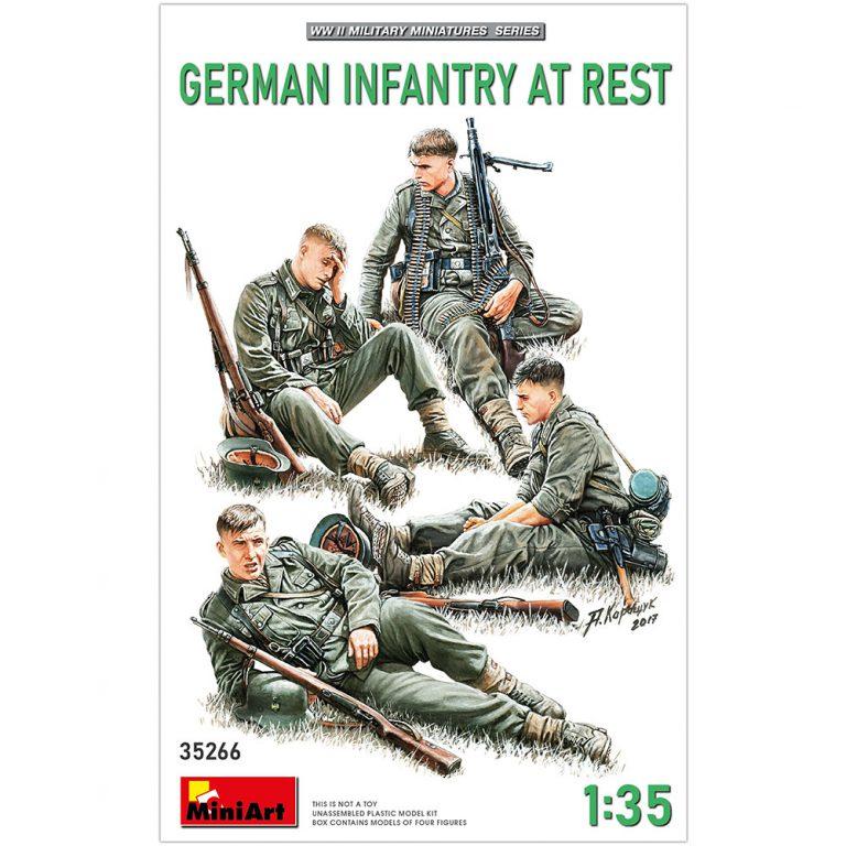 ドイツ歩兵4体入(休息中)