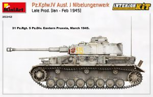 Side views 35342 Pz.Kpfw.IV Ausf. J Nibelungenwerk Late Prod. (Jan – Feb 1945) INTERIOR KIT