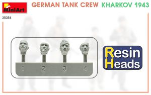Content box 35354 GERMAN TANK CREW. KHARKOV 1943. RESIN HEADS