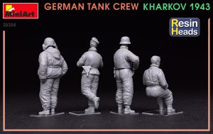 Photos 35354 GERMAN TANK CREW. KHARKOV 1943. RESIN HEADS