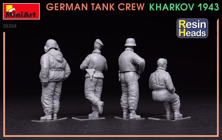 35354 GERMAN TANK CREW. KHARKOV 1943. RESIN HEADS