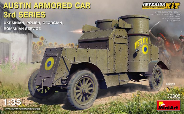 39005 AUSTIN ARMORED CAR 3rd SERIES: UKRAINIAN, POLISH, GEORGIAN, ROMANIAN SERVICE. INTERIOR KIT