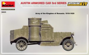 Side views 39005 AUSTIN ARMORED CAR 3rd SERIES: UKRAINIAN, POLISH, GEORGIAN, ROMANIAN SERVICE. INTERIOR KIT