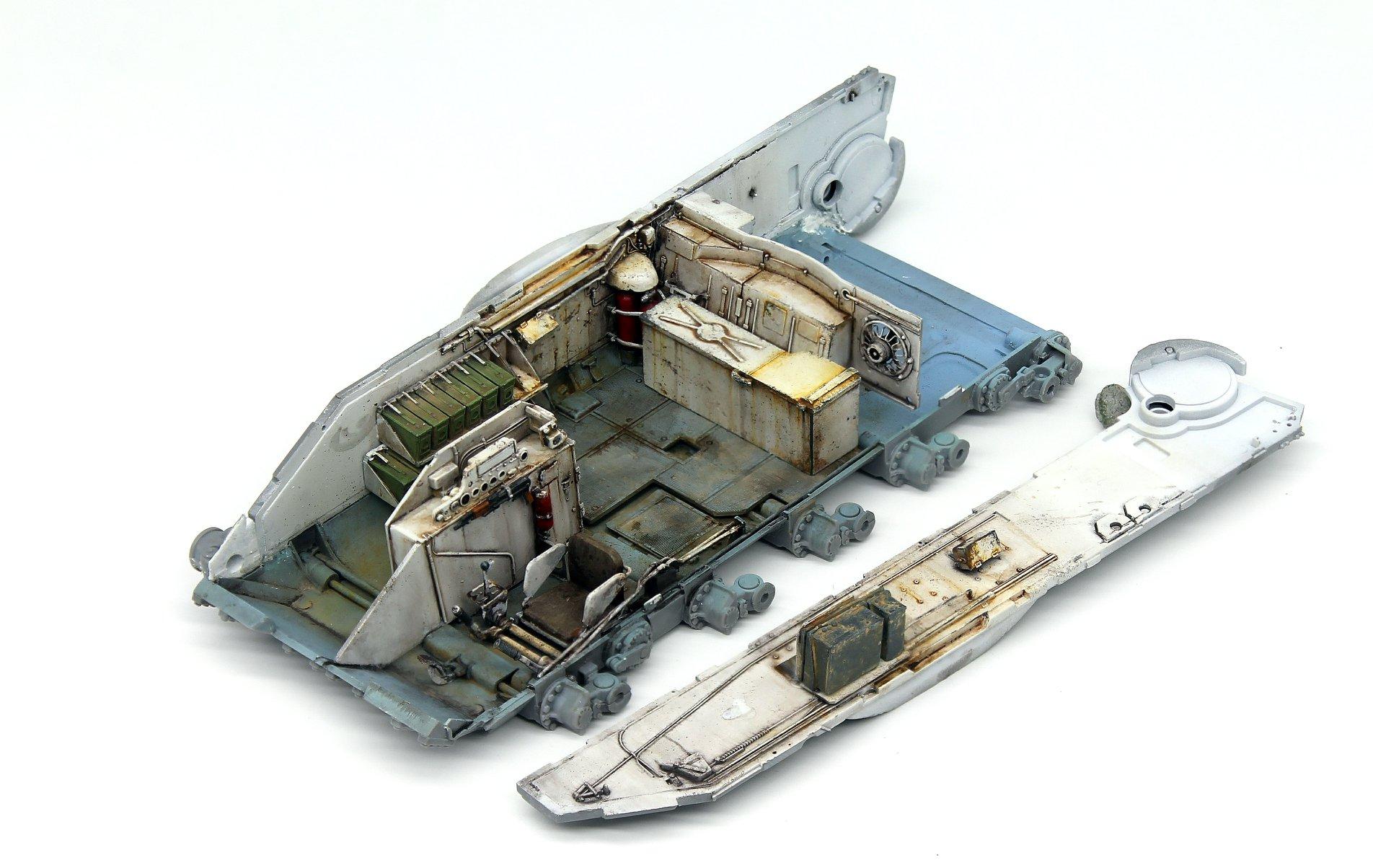 Build Up of Kit: 37028 SLA APC T-54 w/DOZER BLADE. INTERIOR KIT
