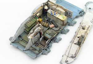 Build up 37028 SLA APC T-54 ドーザ刃装置付インテリアキット(内部再現)