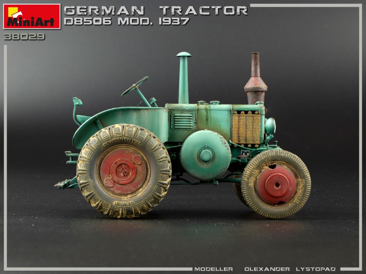 Deutscher LANZ Bulldog Traktor D8506 Mod 1937 in 1:35 MiniArt 38029 Neu