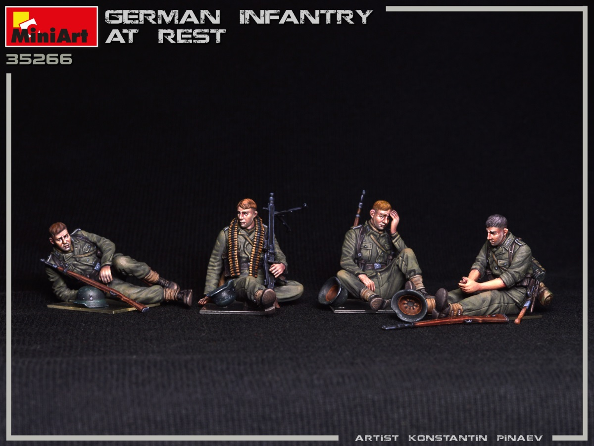New Photos of Kit: 35266 GERMAN INFANTRY AT REST