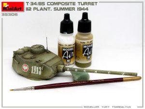 Build up 35306 T-34-85 Composite Turret. 第112工場製 (1944年夏)