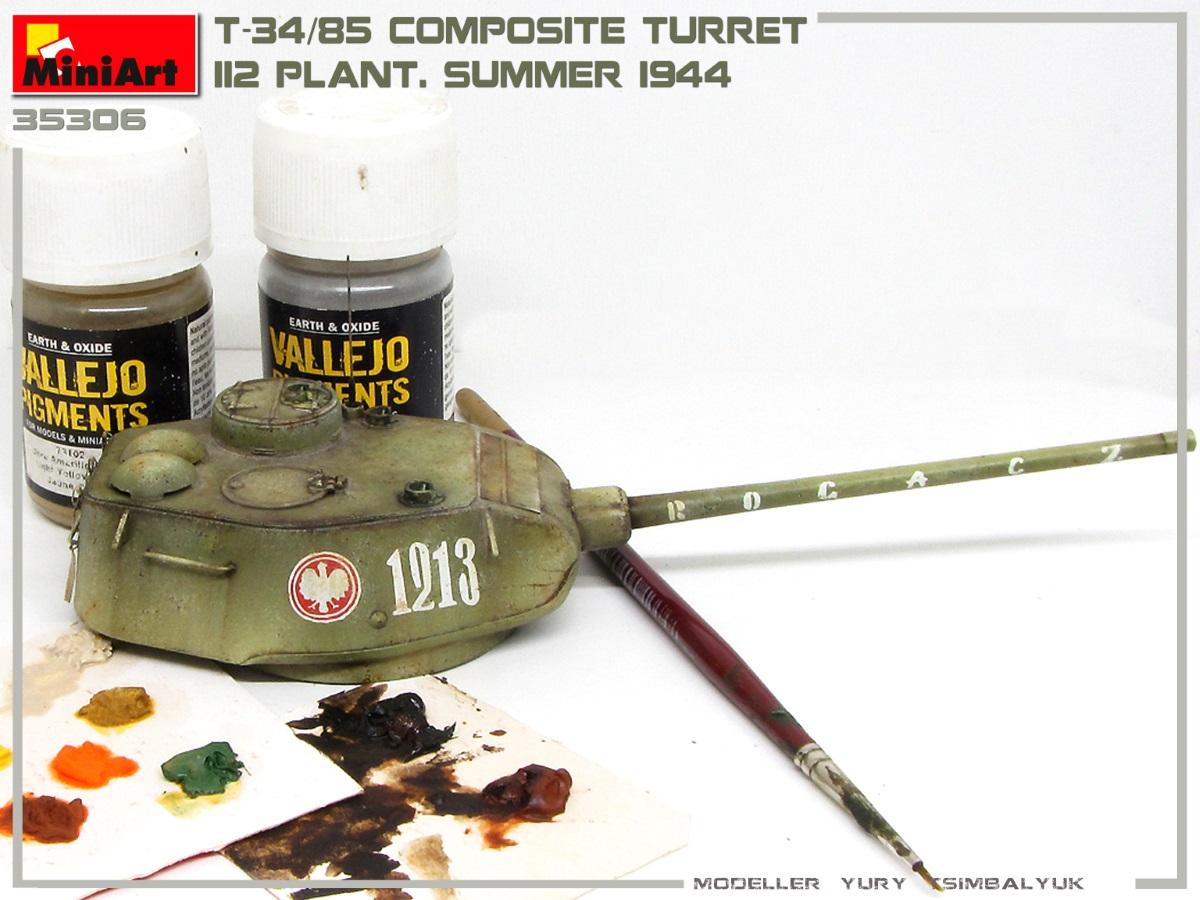 Build Up of Kit: 35306 T-34/85 COMPOSITE TURRET. 112 PLANT. SUMMER 1944