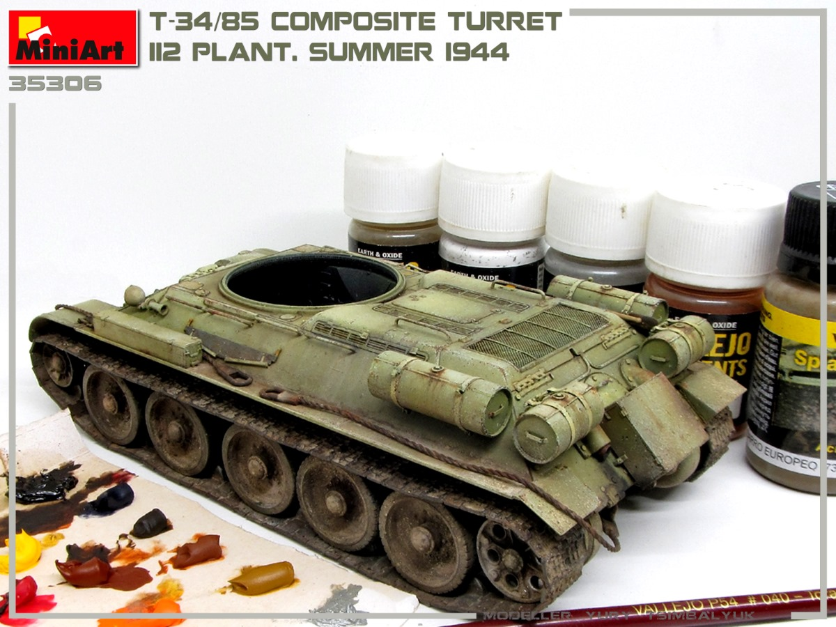 Build Up of Kit: 35306 T-34/85 COMPOSITE TURRET. 112 PLANT. SUMMER 1944