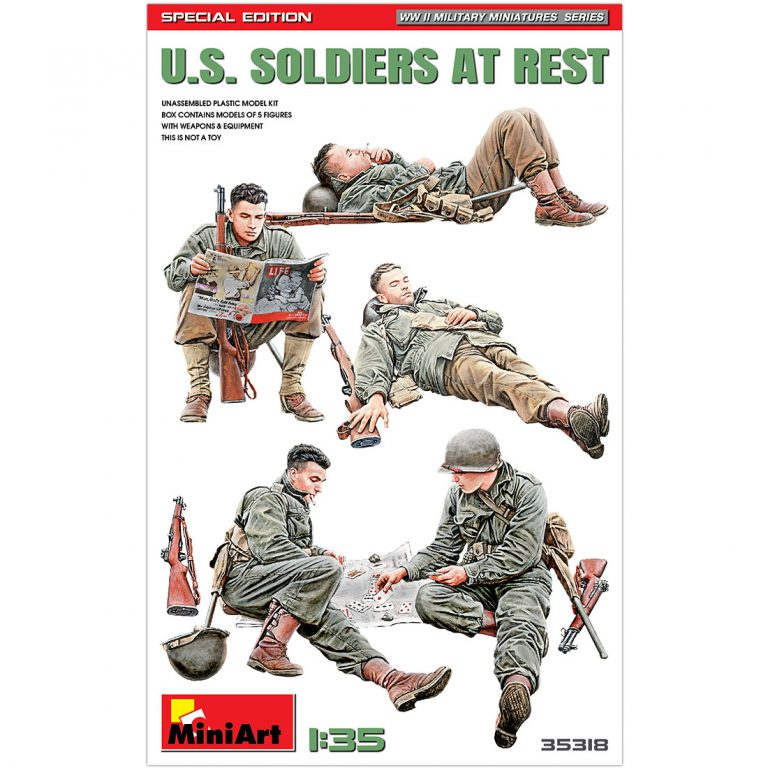 U.S. SOLDIERS AT REST. SPECIAL EDITION