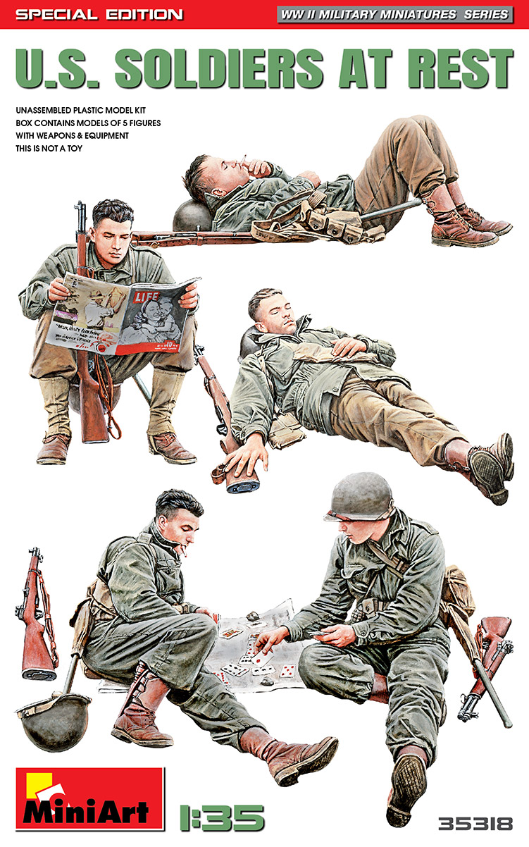 35318 U.S. SOLDIERS AT REST. SPECIAL EDITION