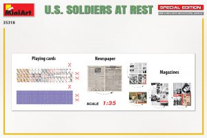 Content box 35318 U.S. SOLDIERS AT REST. SPECIAL EDITION
