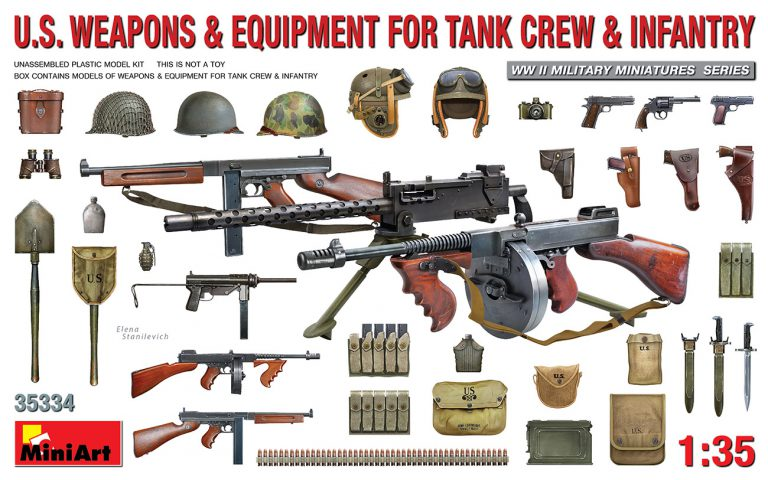 35334 U.S. WEAPONS & EQUIPMENT FOR  TANK CREW & INFANTRY