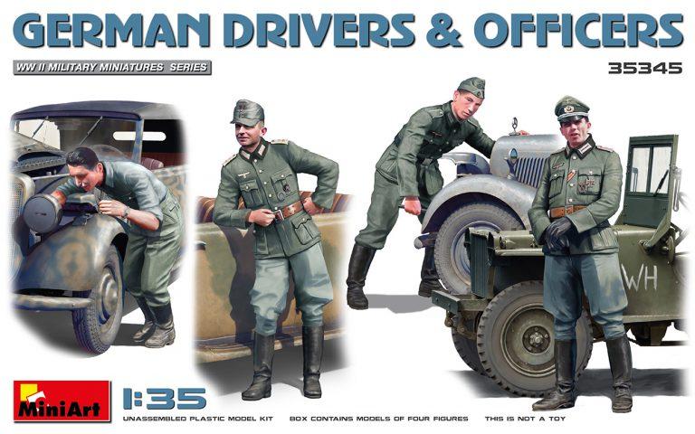 35345 ドイツ兵ドライバー&士官セット4体入