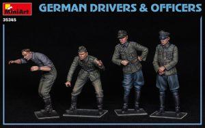 Photos 35345 ドイツ兵ドライバー&士官セット4体入