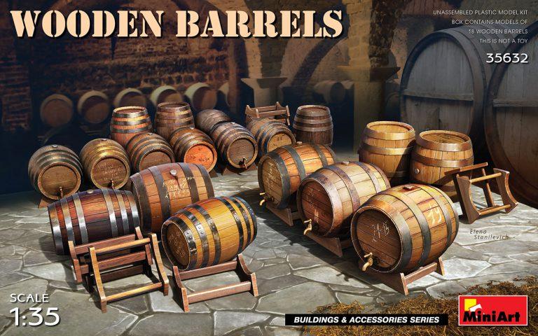 35632 WOODEN BARRELS
