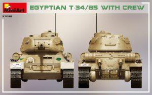 Side views 37098 エジプト軍T-34/85 (戦車兵4体付)