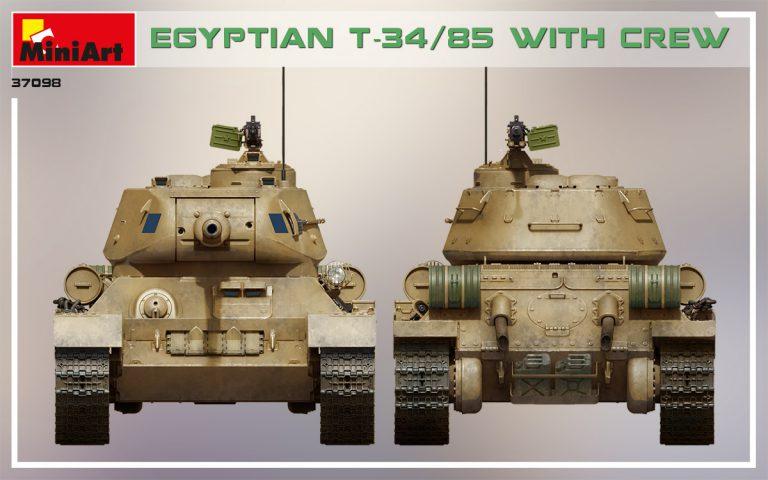 37098 エジプト軍T-34/85 (戦車兵4体付)