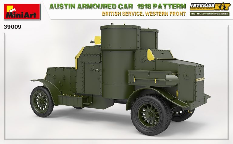39009 AUSTIN ARMOURED CAR 1918 PATTERN. BRITISH SERVICE. WESTERN FRONT. INTERIOR KIT