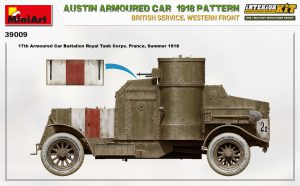 Side views 39009 AUSTIN ARMOURED CAR 1918 PATTERN. BRITISH SERVICE. WESTERN FRONT. INTERIOR KIT