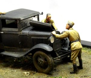 35186 SOVIET 1,5 t. TRUCK w/ M-4 Maxim AA Machine Gun + 35055 SOVIET SOLDIERS RIDERS + Kimmo Happonen
