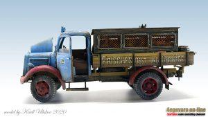 35142 MB 1500S GERMAN 1,5t CARGO TRUCK + Kirill Uliskov