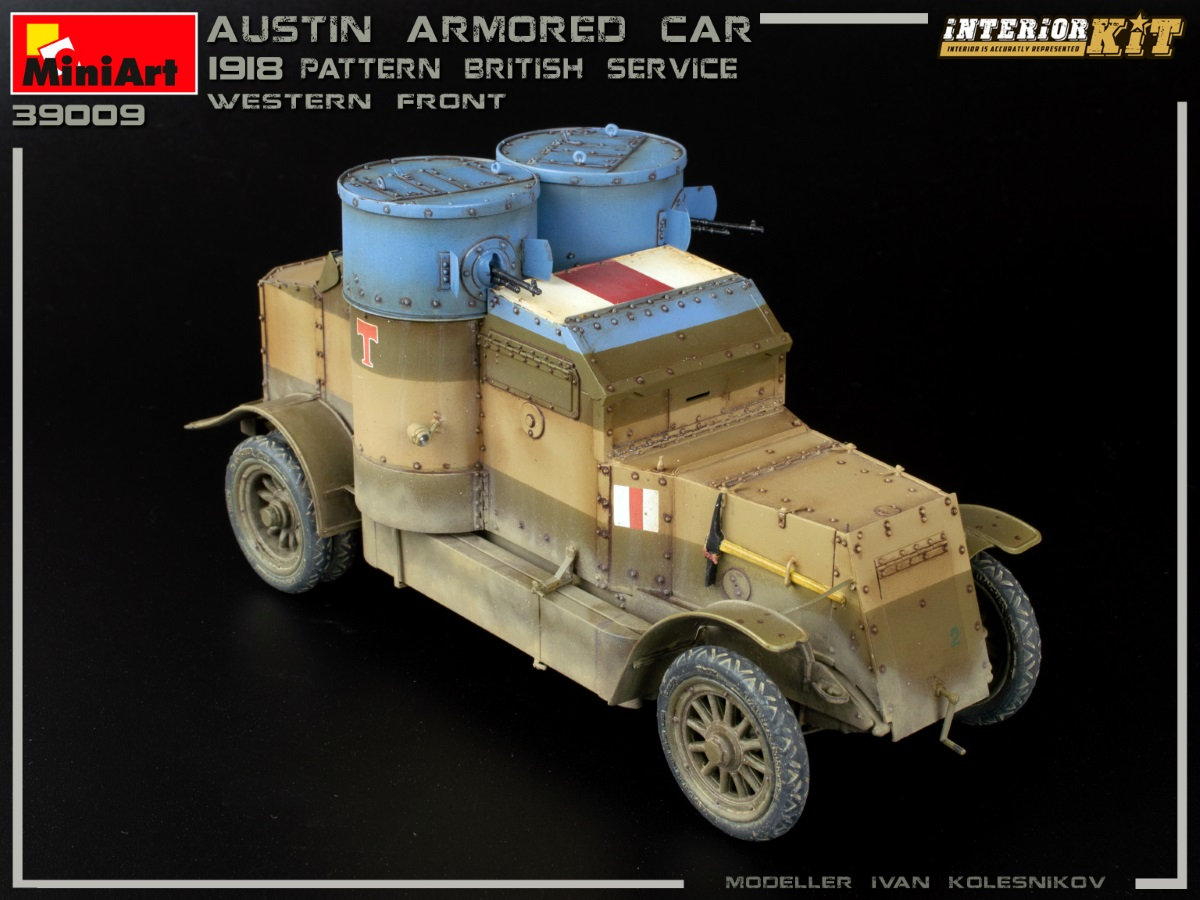 New Photos of Kit: 39009 AUSTIN ARMOURED CAR 1918 PATTERN. BRITISH SERVICE. WESTERN FRONT. INTERIOR KIT