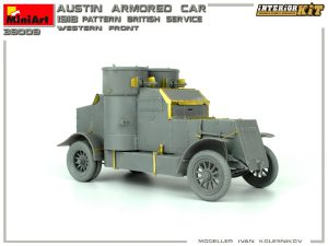 39009 AUSTIN ARMOURED CAR 1918 PATTERN. BRITISH SERVICE. WESTERN FRONT. INTERIOR KIT + Ivan Kolesnikov