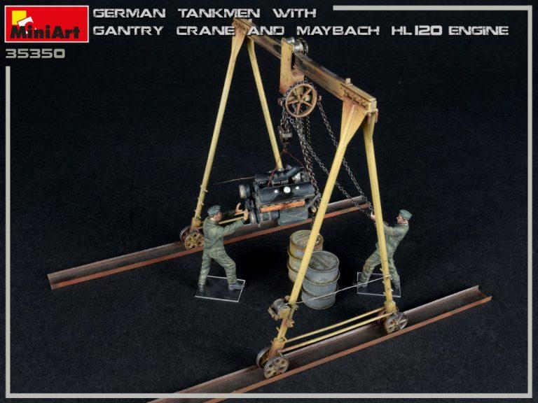 35350 GERMAN TANKMEN WITH GANTRY CRANE & MAYBACH HL 120 ENGINE