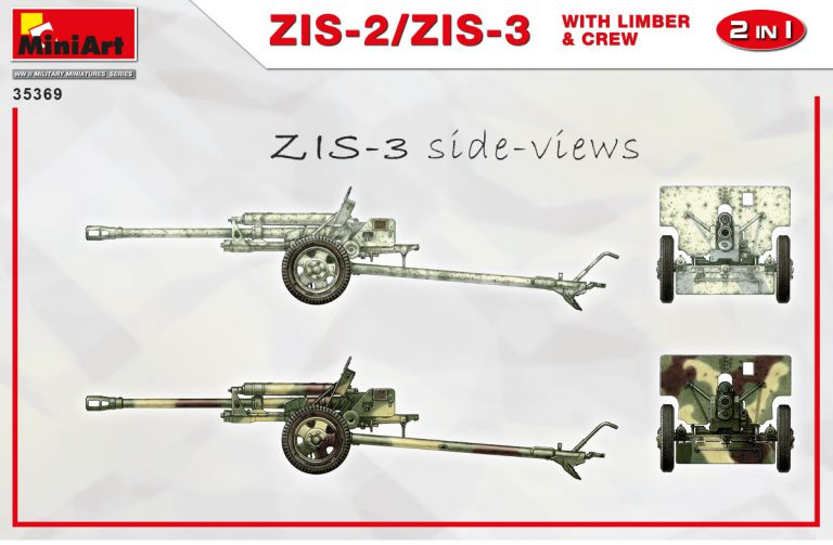 35369 ZIS-2/ZIS-3 With LIMBER & CREW. 2 IN 1