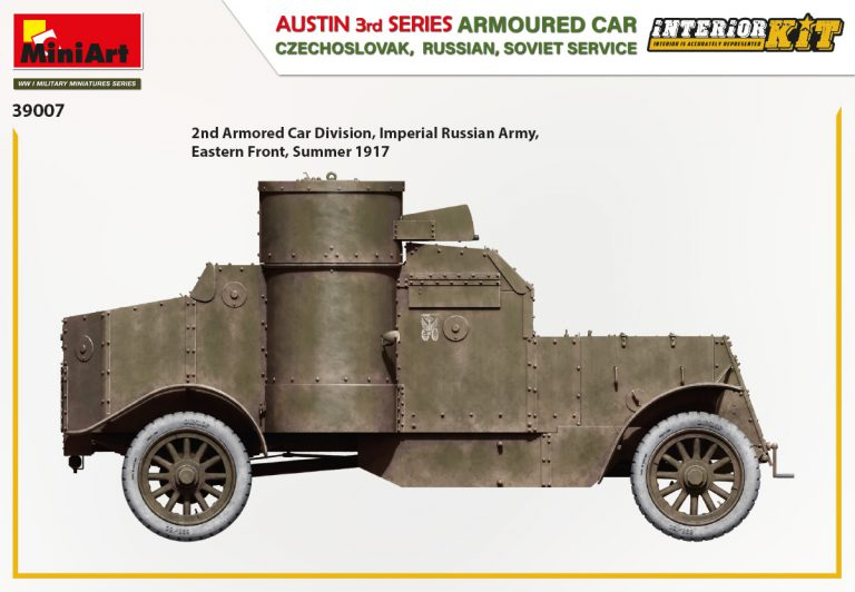 39007 AUSTIN ARMOURED CAR 3rd SERIES: CZECHOSLOVAK,  RUSSIAN, SOVIET SERVICE. INTERIOR KIT