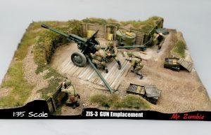 36058 ZIS-3 GUN Emplacement + E-Num Naronkorn Mr.Zombie