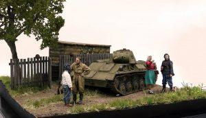 35113 T-70M SOVIET LIGHT TANK. SPECIAL EDITION + Dmitrii Slivkov