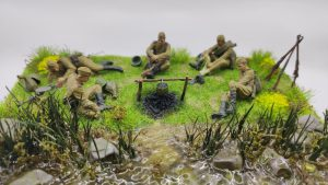 35233 SOVIET SOLDIERS TAKING A BREAK + Shestak Alexander