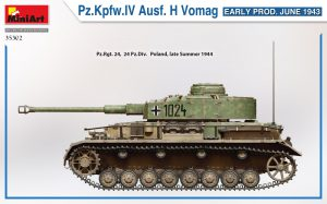 Side views 35302 Pz.Kpfw.IV Ausf. H Vomag. EARLY PROD. JUNE 1943