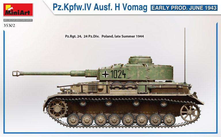 35302 Pz.Kpfw.IV Ausf. H Vomag. EARLY PROD. JUNE 1943