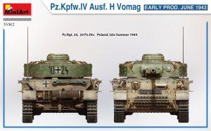 Side views 35302 Ⅳ号戦車 H型 Vomag工場製 初期型 (1943年6月)