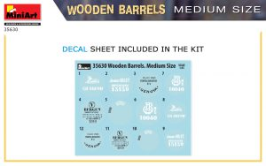 Content box 35630 WOODEN BARRELS. MEDIUM SIZE