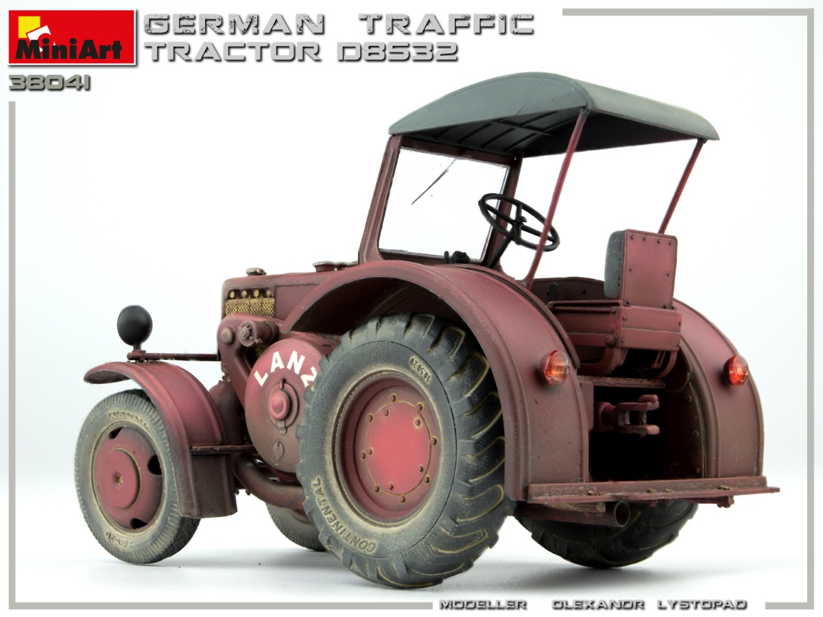 New Photos of Kit: 38041 GERMAN TRAFFIC TRACTOR D8532