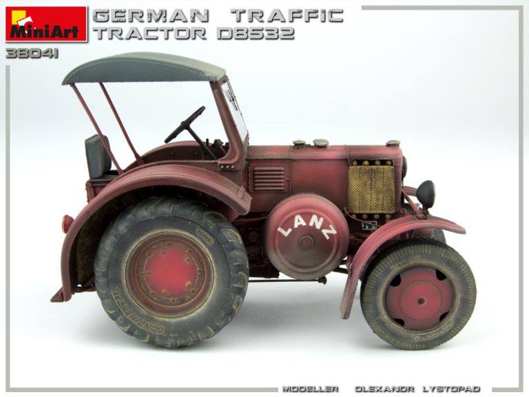 38041 GERMAN TRAFFIC TRACTOR D8532