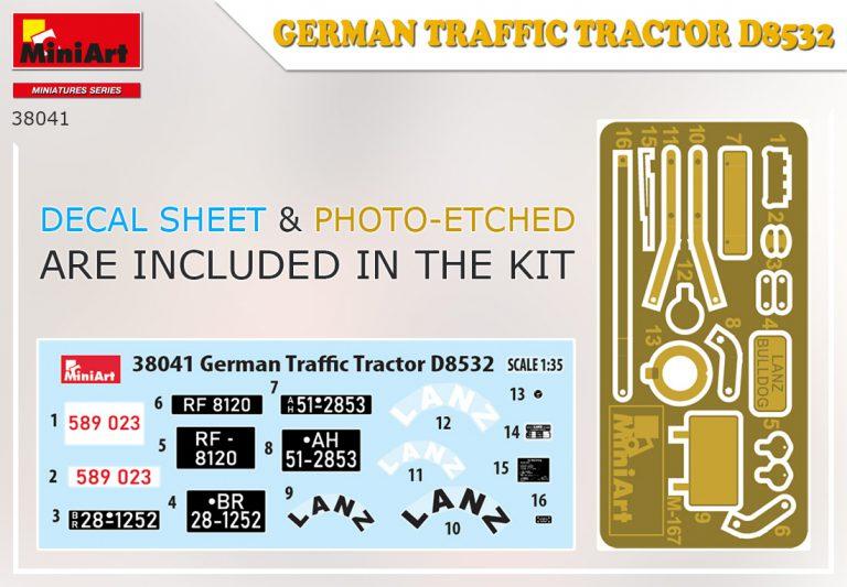 38041 ドイツ製トラフィック トラクター D8532