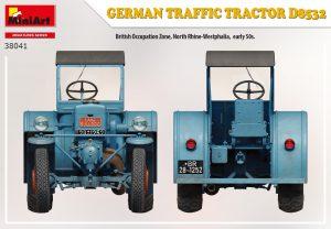 Side views 38041 GERMAN TRAFFIC TRACTOR D8532