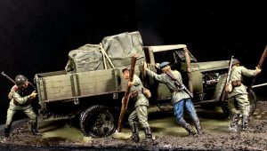 35130 GAZ-MM Mod.1941 1.5t CARGO TRUCK + 35137 PUSHING SOVIET SOLDIERS + Paolo Conte