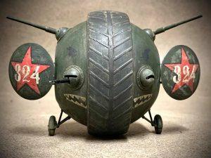 """40001 SOVIET BALL TANK """"Sharotank"""" INTERIOR KIT + Robert Adams"""