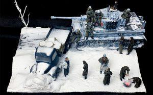 35150 MB 1500A 4×4 CARGO TRUCK + 35218 GERMAN SOLDIERS (WINTER 1941-42) + 35075 TOTENKOPF DIVISION. KHARKOV 1943 35280 GERMAN TANK CREW. KHARKOV 1943 + scale_ua