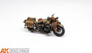 35168 U.S. MILITARY POLICEMAN w/MOTORCYCLE + Denis Panov